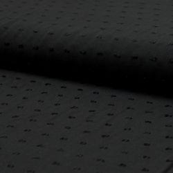 Viscose plumetis noire