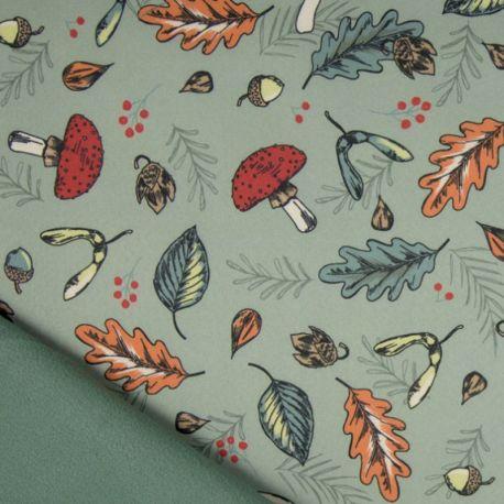 Softshell imprimé automne dusty mint