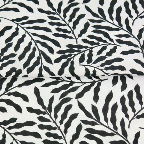 Popeline rameaux noir/blanc