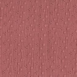 Double gaze brodée adèle marsala