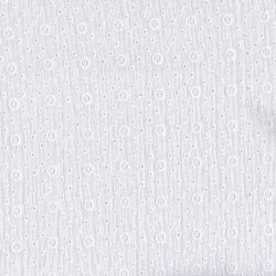 Double gaze brodée agnès blanc