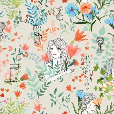 Popeline garden flowers