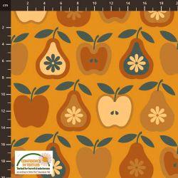 Jersey pommes/poires ocre orange