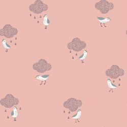 Enduit birds in the rain