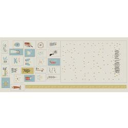 Panneau canvas gold Xmas calendar