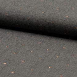 Viscose plumetis métallisé gris