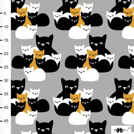 Jersey bio kittens gris/ocre