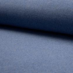 Polaire coton bio bleu jeans chiné