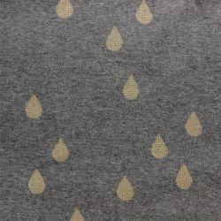 Jacquard bio drops gris/or