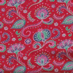 Jersey hispahan fleurs rouge