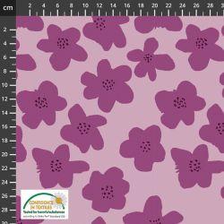 Sweat/molleton purple flowers