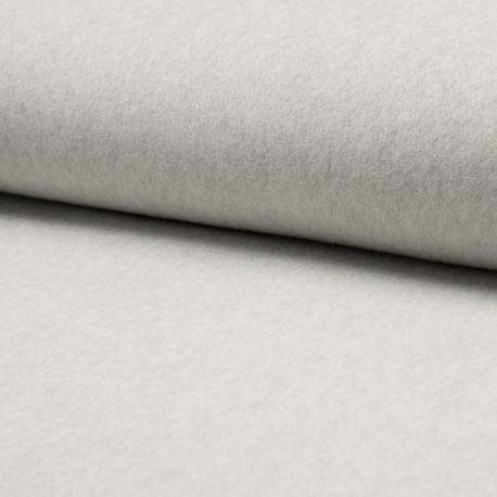 Polaire coton bio gris clair chiné