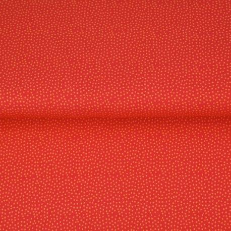 Sweat retro pointillés rouge