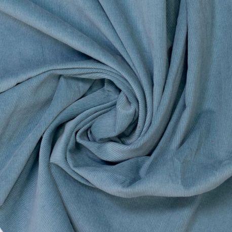 Velours milleraies stone blue