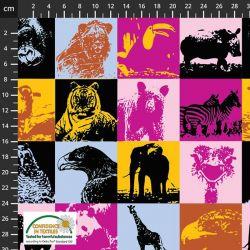 Sweat/molleton wild animals stickers