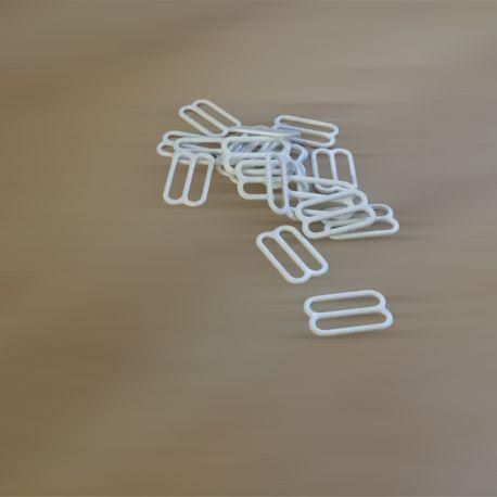 Régleurs soutien-gorge métal blanc