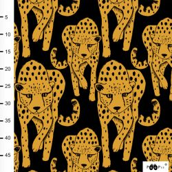 Jersey éponge bio cheetah ocre