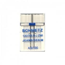 Aiguille double spéciale jeans  Schmetz