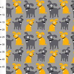 Jersey sesse gris/jaune soleil/gris foncé