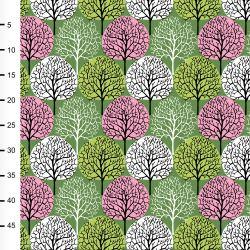 Jersey seasons vert forêt/rose
