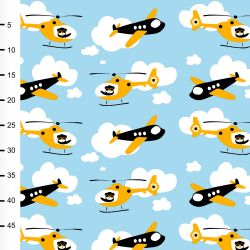 Jersey propeller bleu ciel/jaune soleil