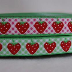 Ruban vichy fraise