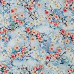 Viscose cherry blossom