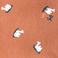 Rustic cotton imprimé carpet rust