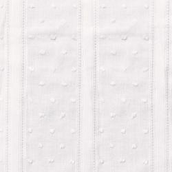 Coton plumetis vintage blanc