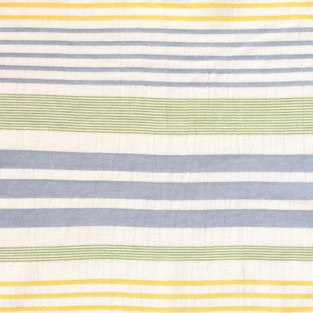 Coton panama stripes vert