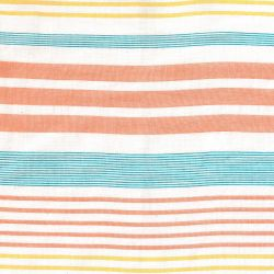 Coton panama stripes orange