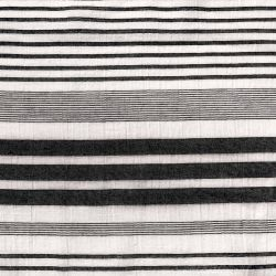 Coton panama stripes black