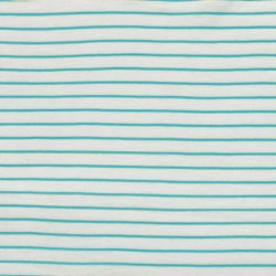 Jersey flammé stripes aqua