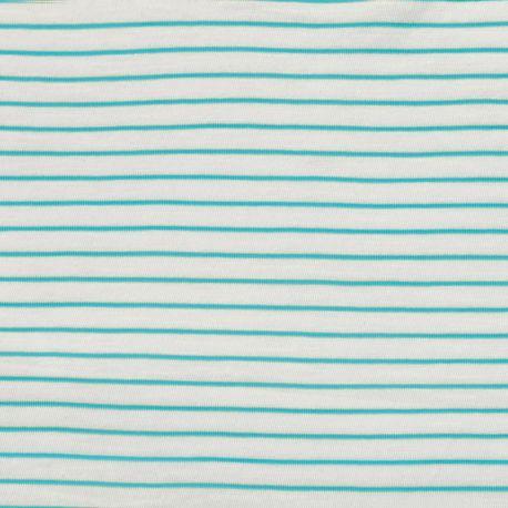 Jersey flammé stripes aqua