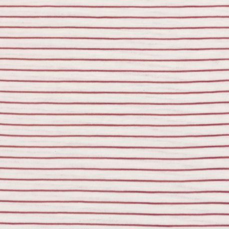 Jersey flammé stripes noisette