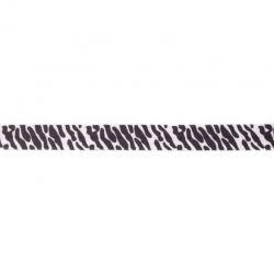 Biais élastique préplié zèbre-15mm
