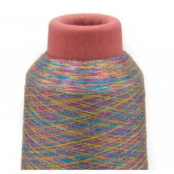 Cône de fil metalisé multicolore