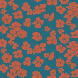 Jersey modal poppies pétrole