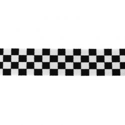 Élastique shorty damiers black and white