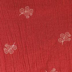 Coton crépon flowers cranberry