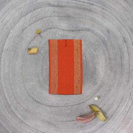 Élastique rayé tangerine
