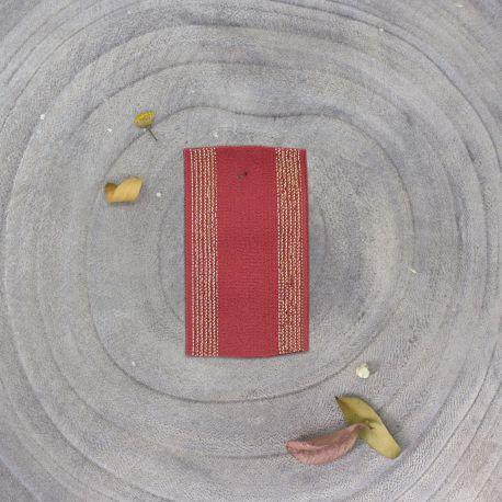 Élastique rayé terracotta