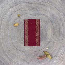 Élastique rayé amarante