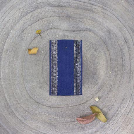 Élastique rayé cobalt