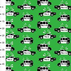 Jersey police vert/noir