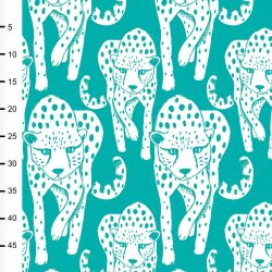 Jersey bio cheetah  turquoise