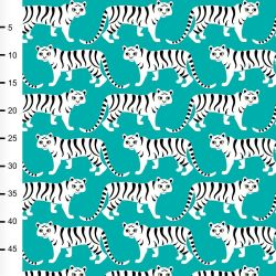 Jersey bio tigerparade  turquoise