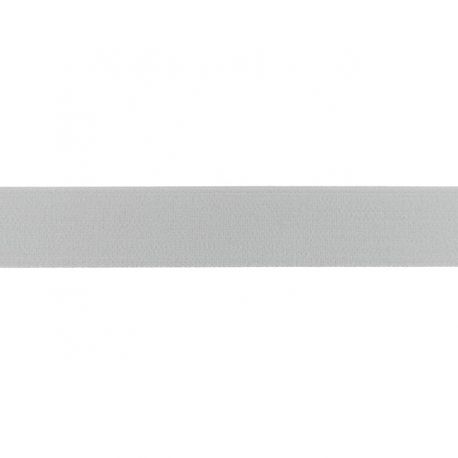 Élastique shorty uni gris clair- 25mm