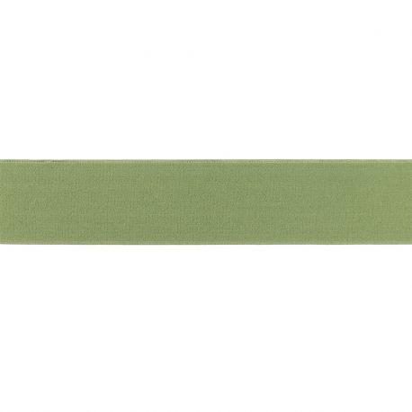 Élastique shorty uni vert olive - 40 mm