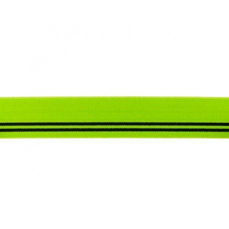 Élastique shorty lime/rayures noires-30 mm